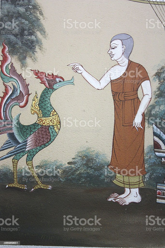 Buddha painting in Thailand royalty-free stock photo