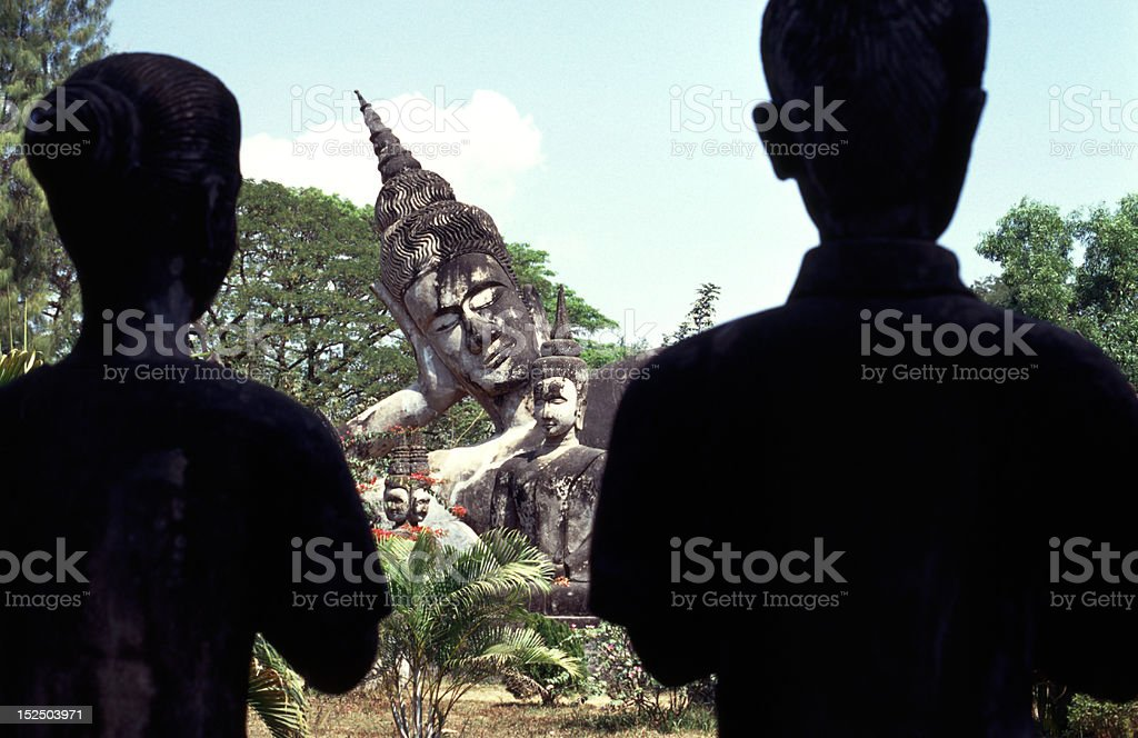 Buddha Park in Laos stock photo