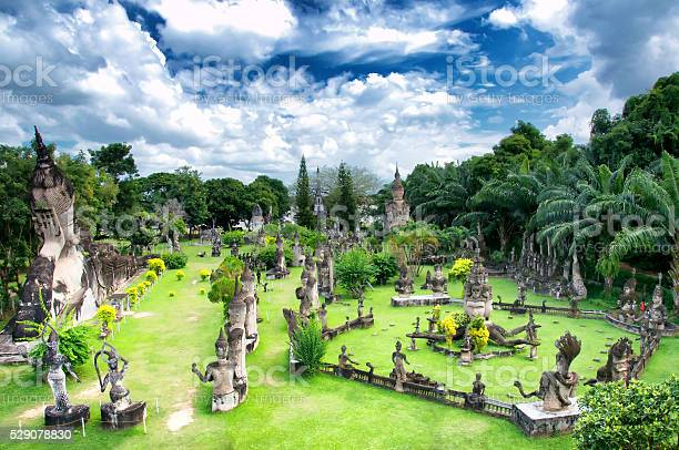 Buddha Park, also known as Xieng Khuan, is a sculpture park located 25 km southeast from Vientiane, Laos in a meadow by the Mekong River.