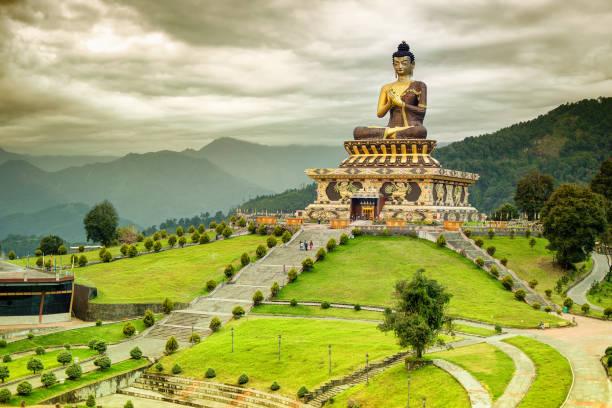부처님 공원, rabangla, 시킴 - 부처 불교 뉴스 사진 이미지