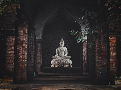 Buddha sculpture in the temple of Thailand
