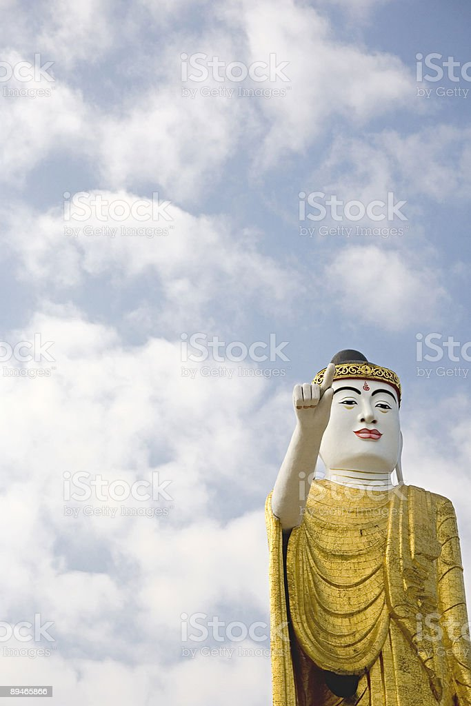 Buddha Pointing the Way (Public Monument) royalty-free stock photo