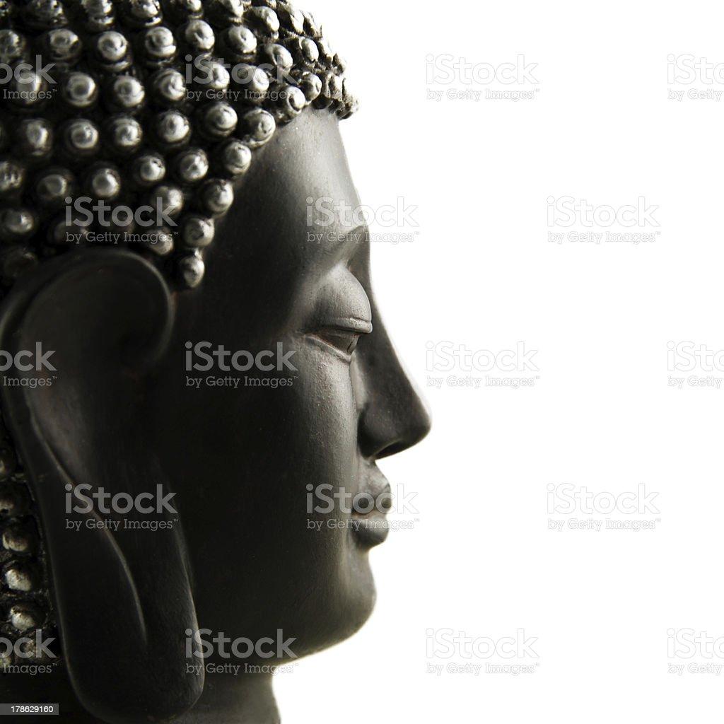 Buddha Profil isoliert stock photo