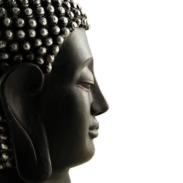 Buddha Profil isoliert – Foto