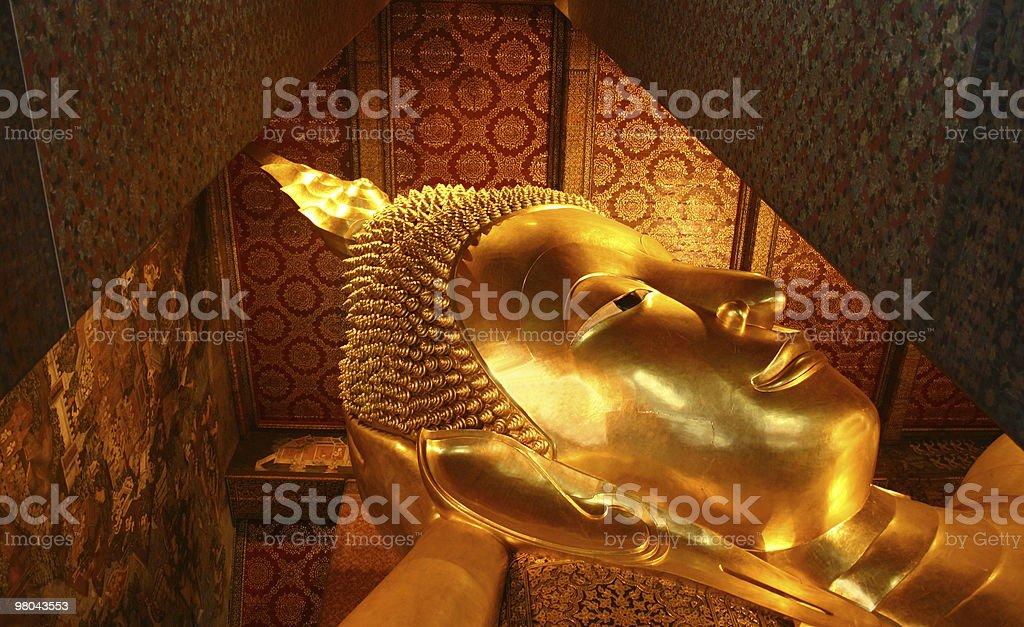 Buddha sdraiato foto stock royalty-free