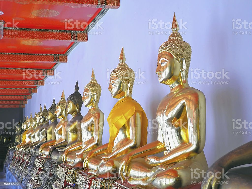 Buddha Row stock photo