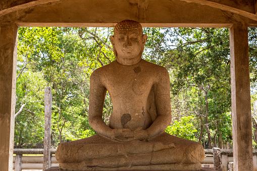 Buddha Samadhi statue in Anuradhapura in Sri Lanka