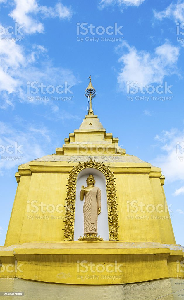 Buddha sculpture at temple royalty-free stock photo