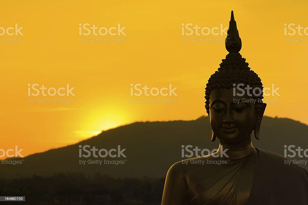Buddha sculpture royalty-free stock photo