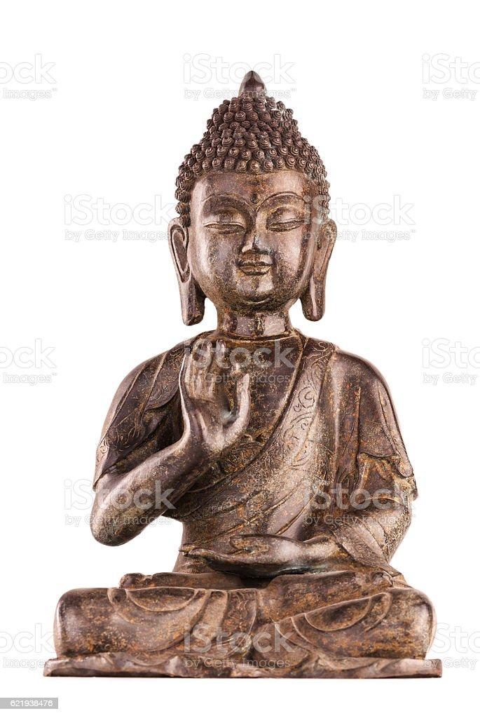 Buddha Shakyamuni's figure in vitarka mudra. stock photo