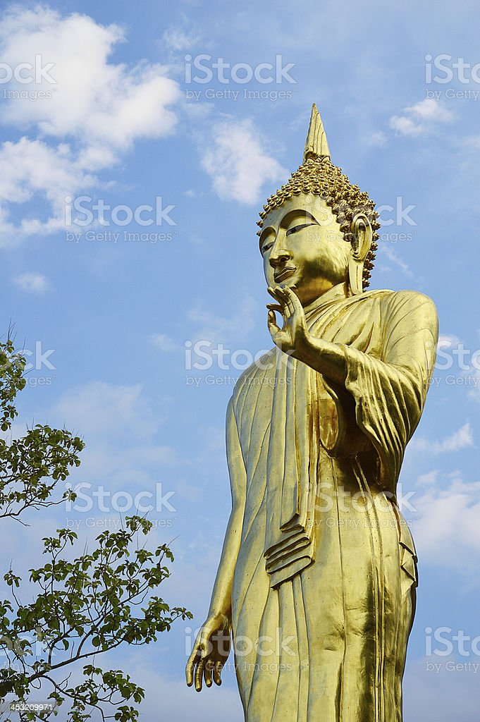 buddha standing on a mountain Wat Phra That Khao Noi royalty-free stock photo