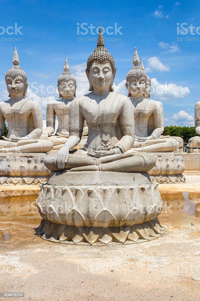 Buddha statue and blue sky, Nakhon Si Thammarat Province zbiór zdjęć royalty-free