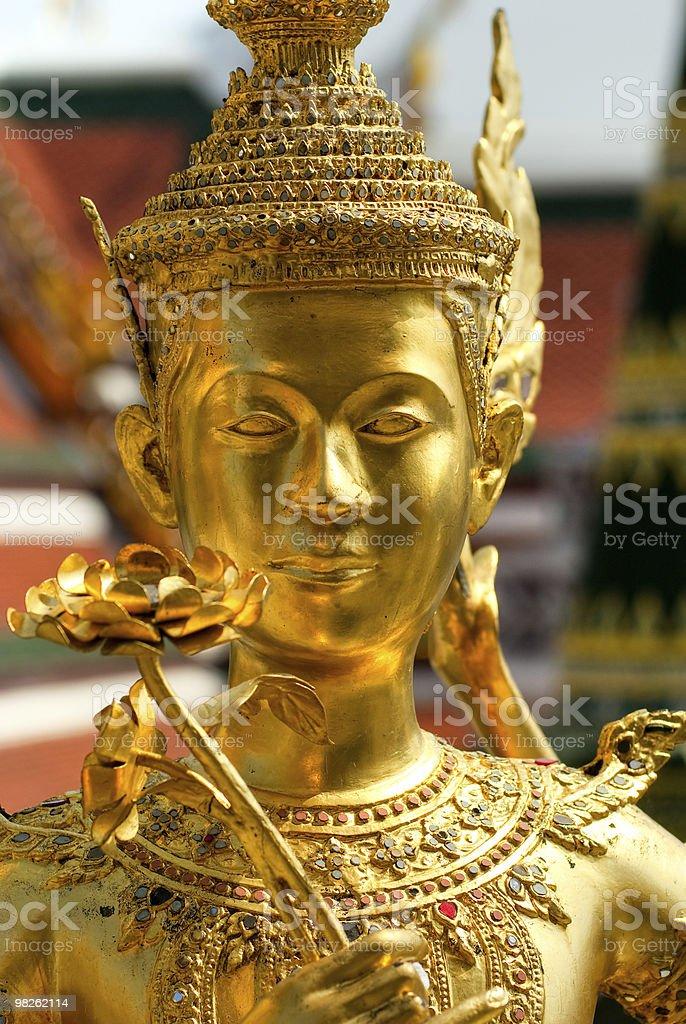 Buddha statue at Bangkok Wat Phra Kaeo. Thailand. royalty-free stock photo