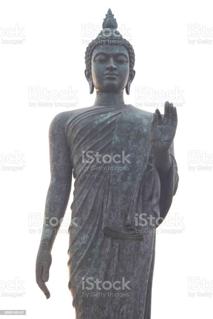 Buddha statue at Phutthamonthon in Thailand stock photo