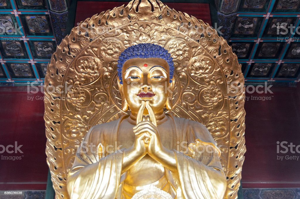 Buddha statue at the Forbidden City - Beijing, China stock photo