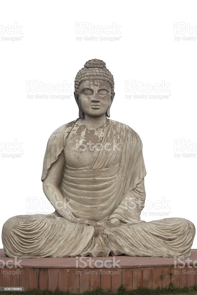 Buddha Statue at the Garden of Silence stock photo