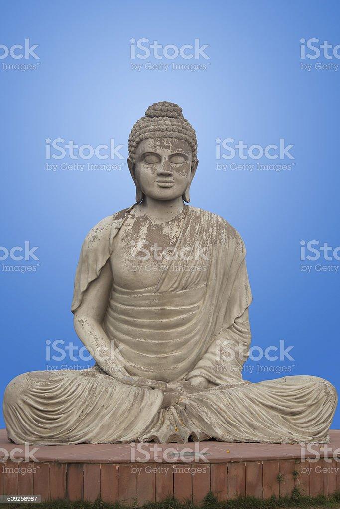 Buddha Statue at the Garden of Silence stock photo
