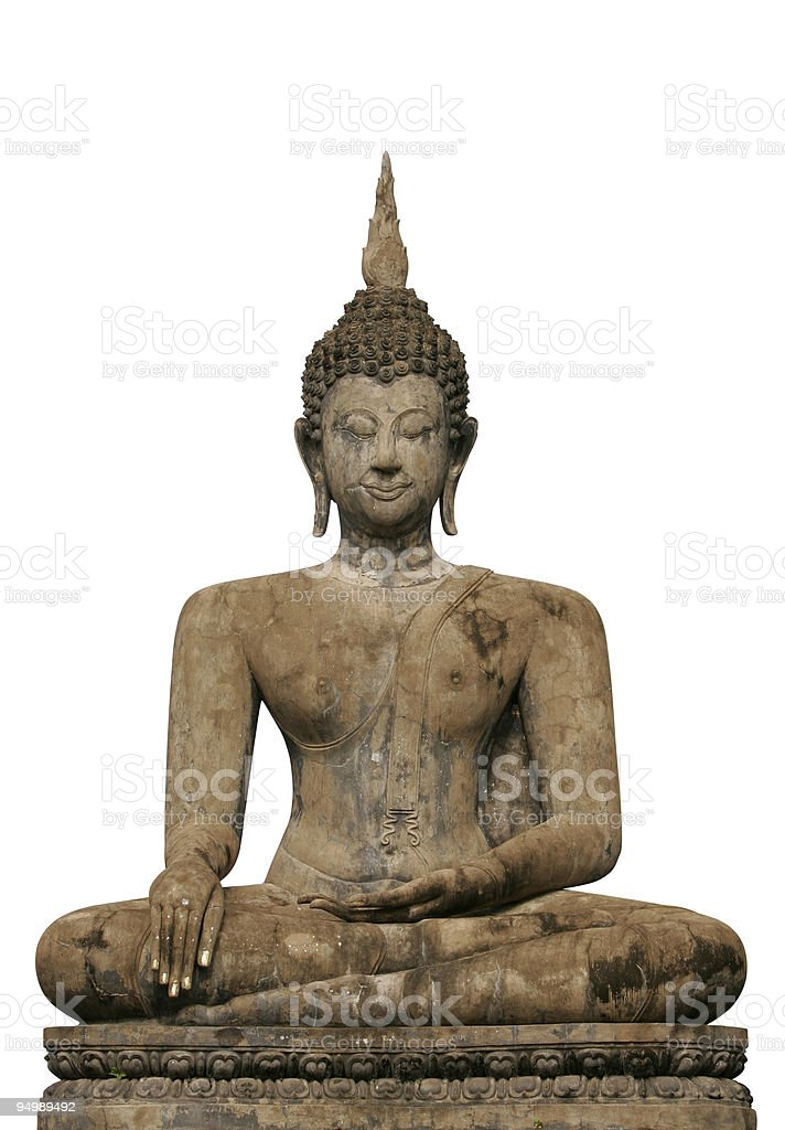 Buddha statue at Wat Mahathat temple, Thailand stock photo