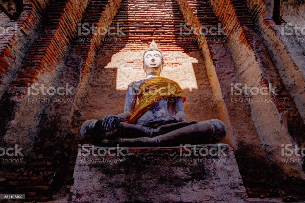 Buddha statue at Wat Prasat Nakorn Luang,Amphoe Nakorn Luang,Phra Nakorn Si Ayutthaya,Thailand royalty-free stock photo