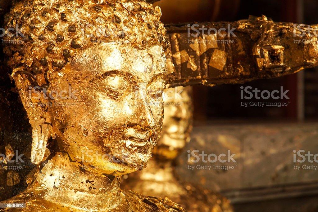 Buddha statue at Wat Yai Chai Mongkhon temple stock photo