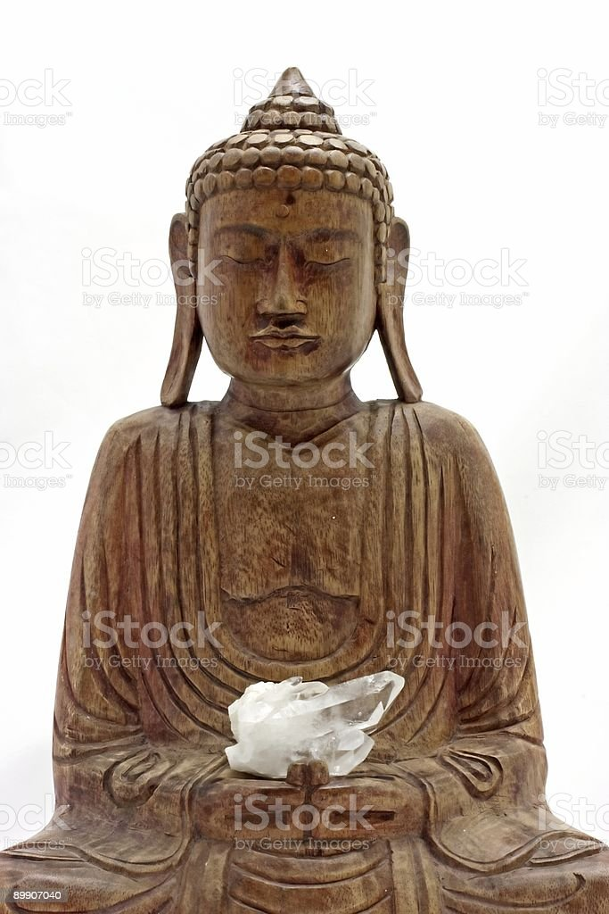 Buddha statue  from wood royalty-free stock photo