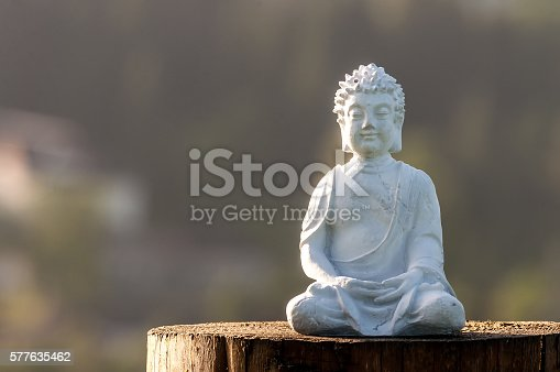istock Buddha statue image used as amulets of Buddhism. Religion concept 577635462