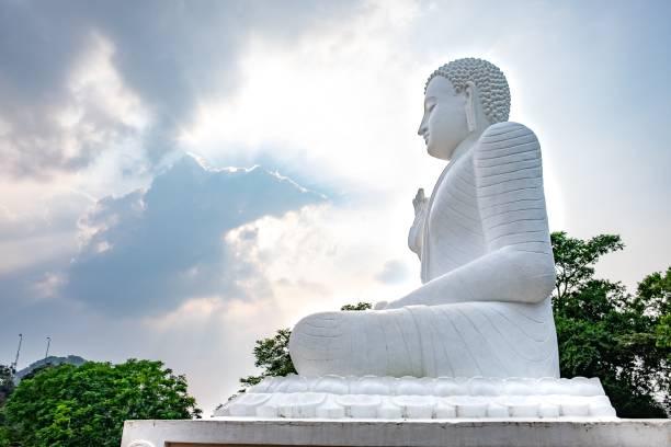 Buddha statue in Anuradhapura stock photo