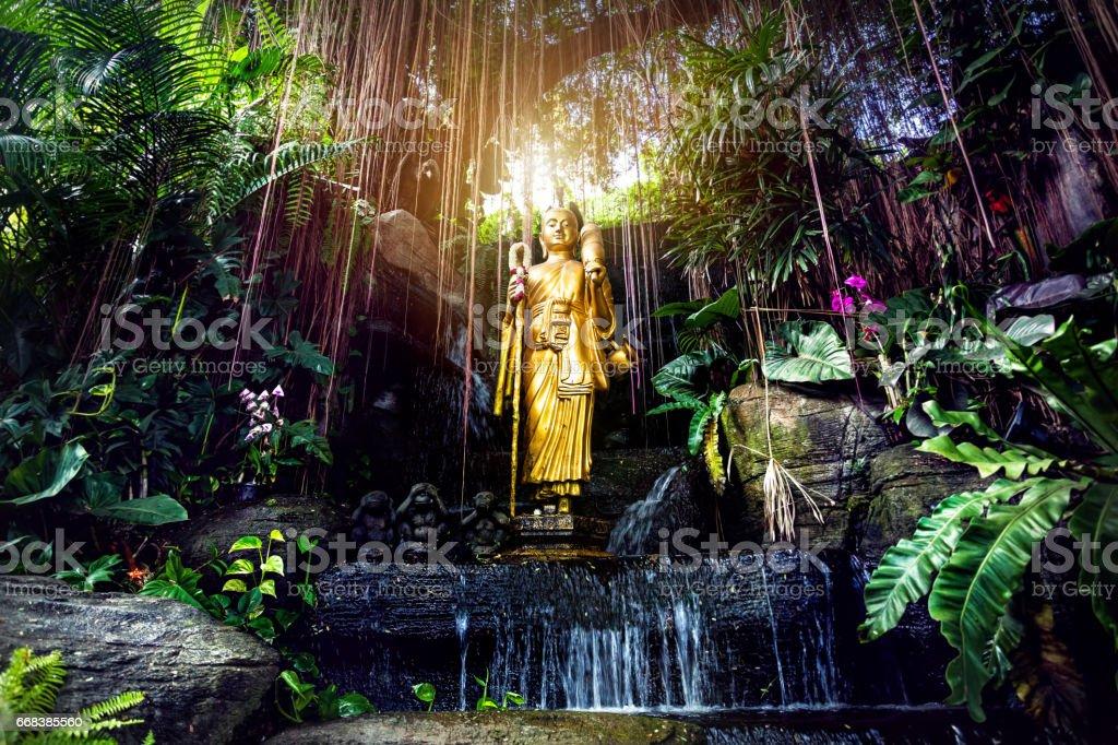 Buddha statue in Bangkok stock photo