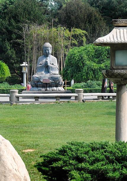 Buddha Statue in calm repose - Restful Park  Xian China stock photo