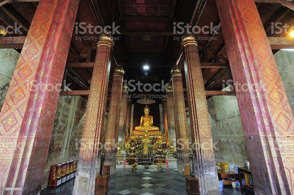 Buddha statue in church. royalty-free stock photo