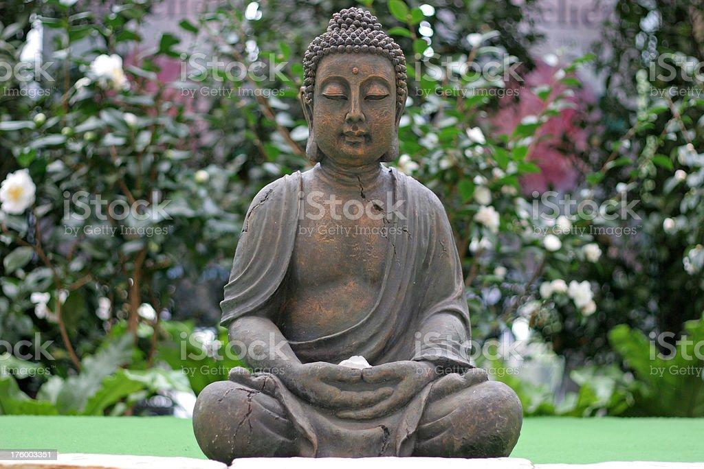 Buddha statue in garden royalty-free stock photo
