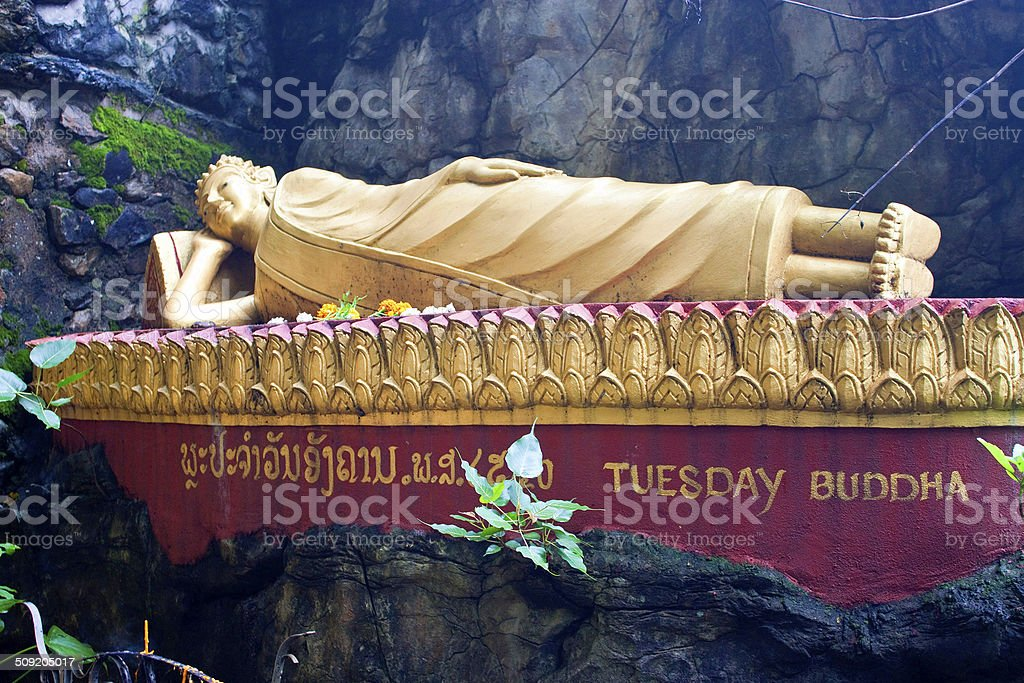 Buddha statue in Luang Prabang stock photo