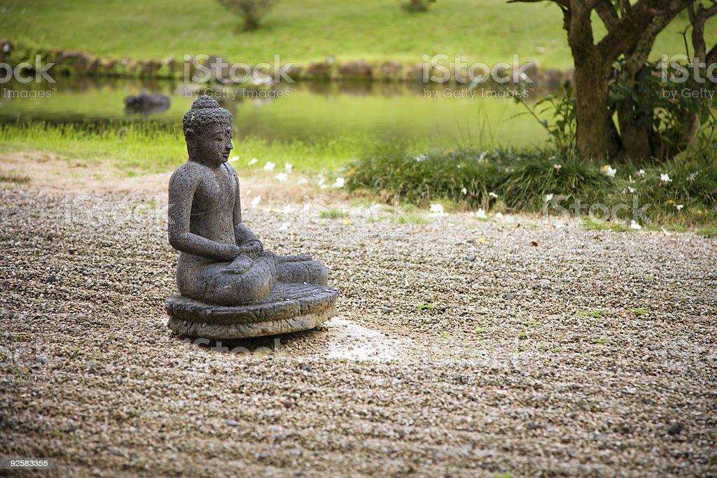 Buddha Statue In Rock Garden Stock Photo Download Image Now Istock