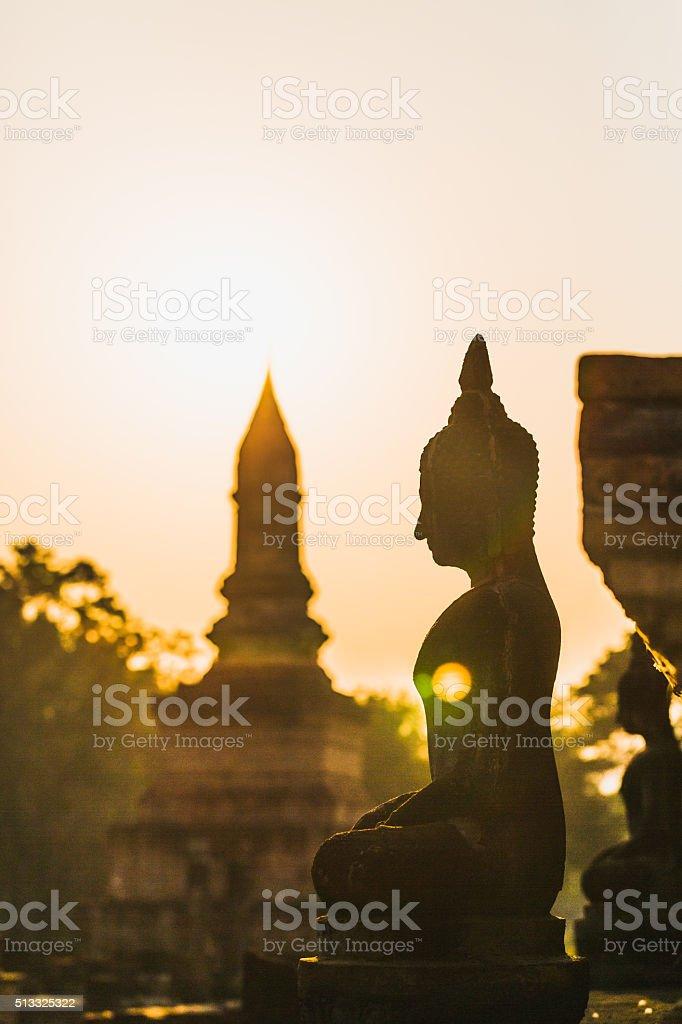 Buddha statue in Sukhothai, Thailand. stock photo