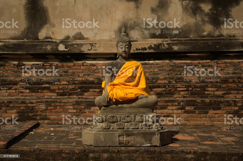 Buddha statue in temple, thailand royalty-free stock photo