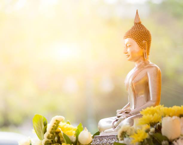 Buddha statue in thailand stock photo
