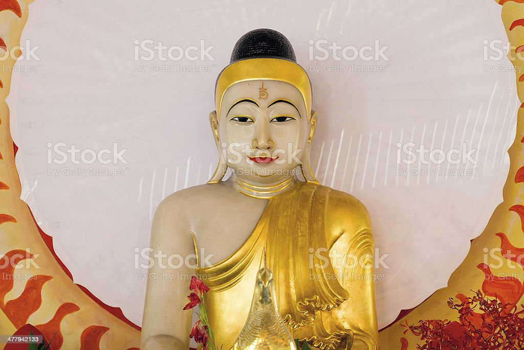 Buddha Statue in Thailand Temple Altar royalty-free stock photo