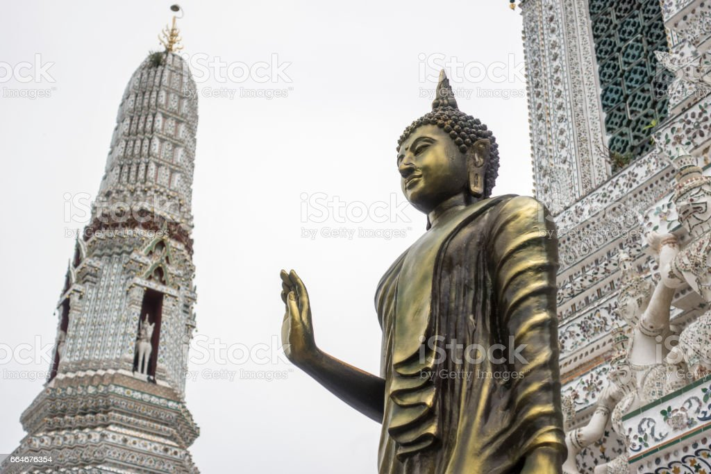 Buddha statue in the temple. stock photo