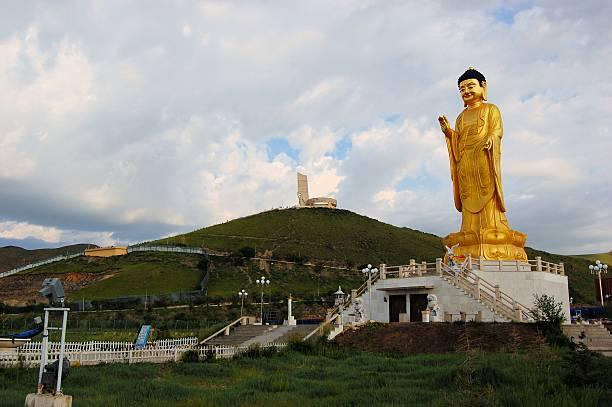 Buddha statue in Ulan Bator . Mongolia stock photo