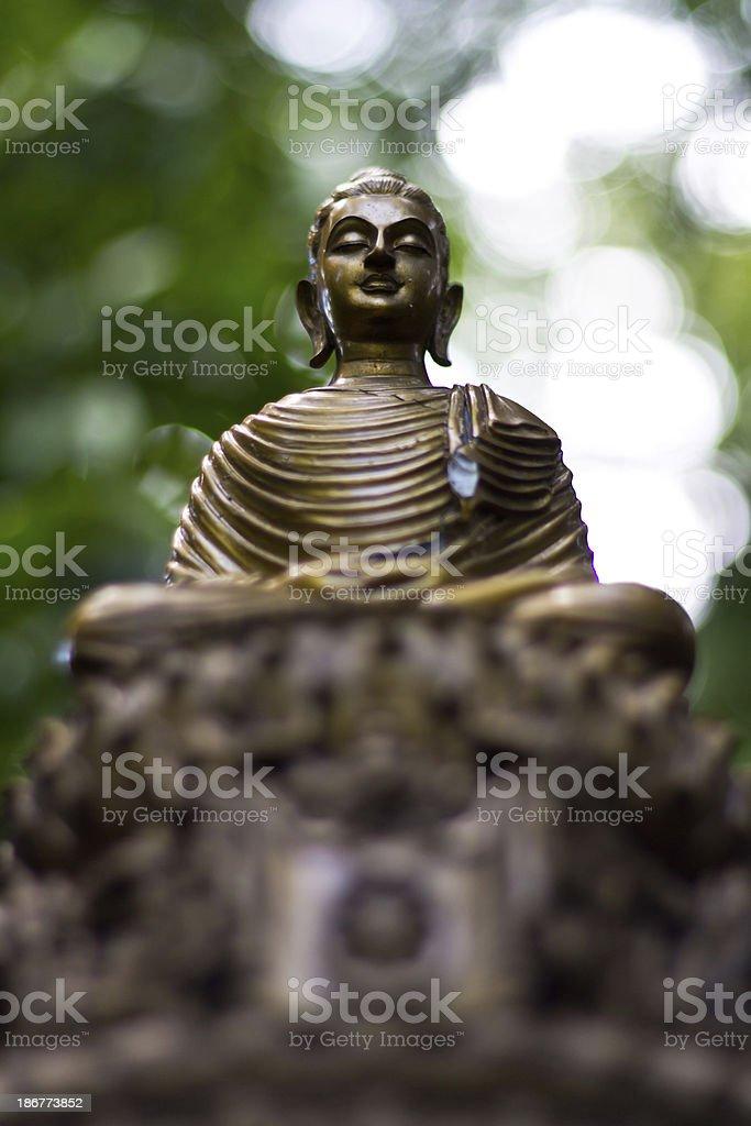 Buddha statue in Wat Umong stock photo