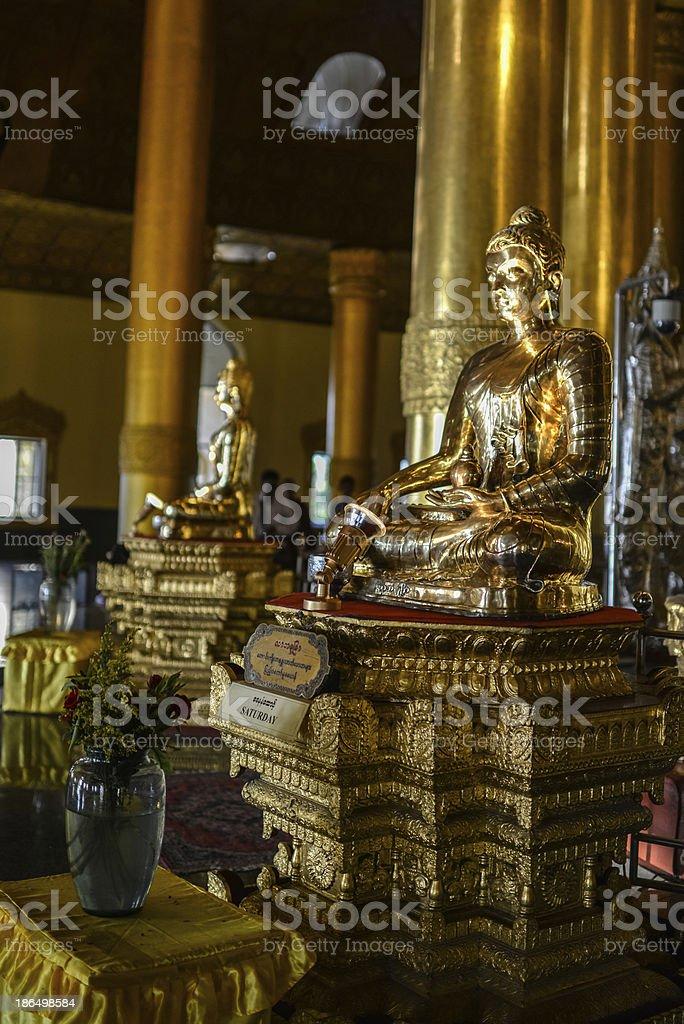 Buddha Statue in Yangon royalty-free stock photo