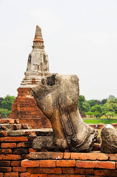 Buddha statue of broken Thai stock photo