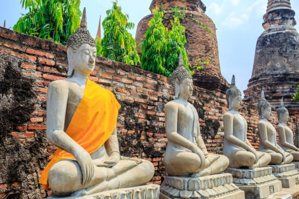 Buddha Statue of Wat Yai chai mongkhon stock photo