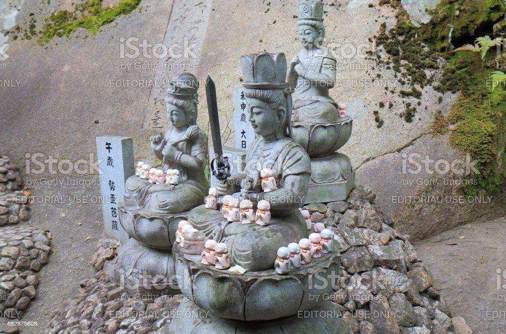 Buddha statue Onomichi Hiroshima Japan stock photo