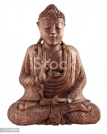 A serene statue of Buddha