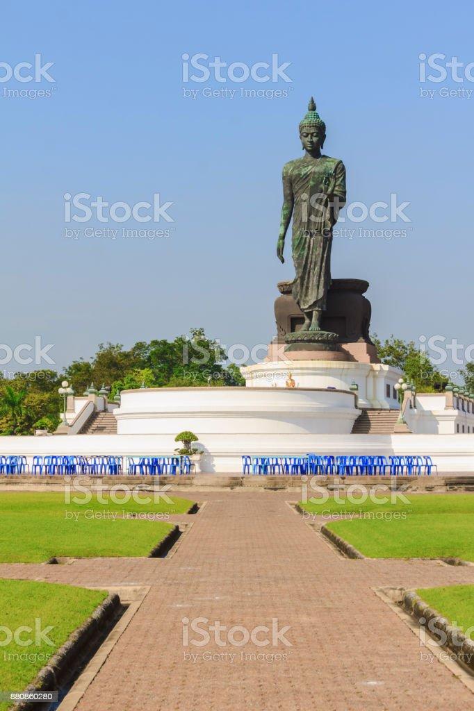 buddha statue stand up stock photo