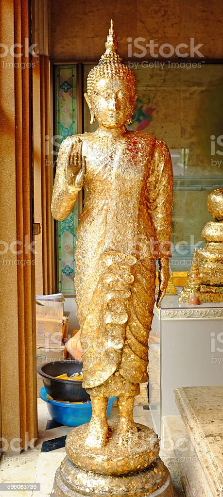 Buddha statue standing composed royalty-free stock photo