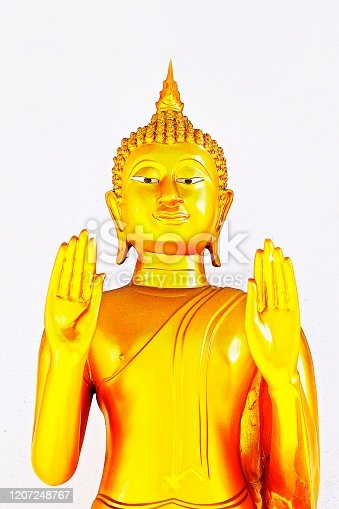 Buddha statue - the attitude of persuading the relatives not to quarrel.