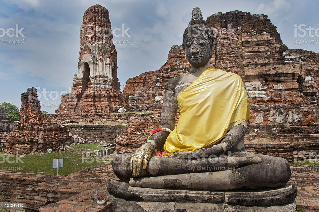 Buddha Statue, Wat Yai Chai Mongkhon,Ayutthaya, Thailand stock photo