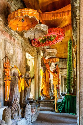 istock Buddha statues in Angkor Wat 585514844